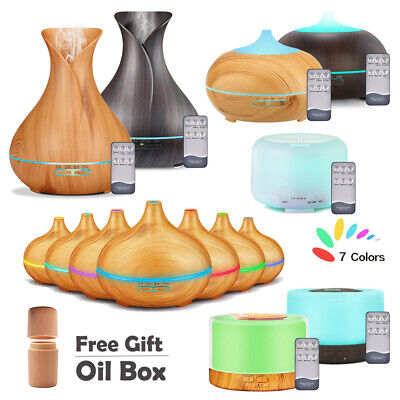 Ultrasonic Essential Oil Aroma Diffuser Mist Humidifier Purifier Aromatherapy UK