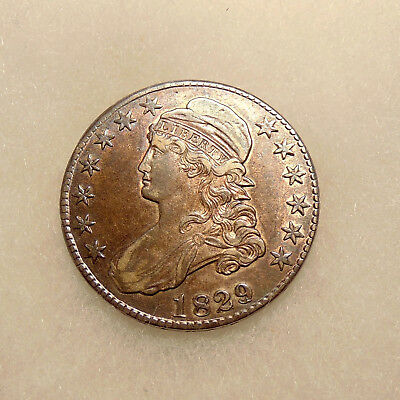 1829/7 Capped Bust Half - O.101 - Sharp Looking Coin