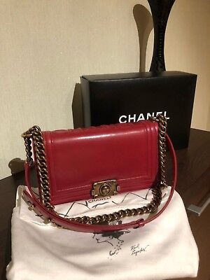 a81dbd7d3780 Auth Christian Dior lady Dior Pink Patent leather Color Medium Size Bag.