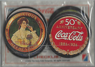 1993 The Coca-Cola Co. Collection Series 1 SEALED Glossy 100 Card Set + 8 Pogs