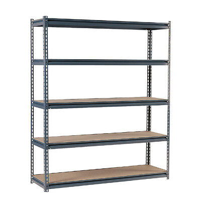 Industrial Steel 5-Tier Shelving Rack Large Freestanding Commercial Storage Unit