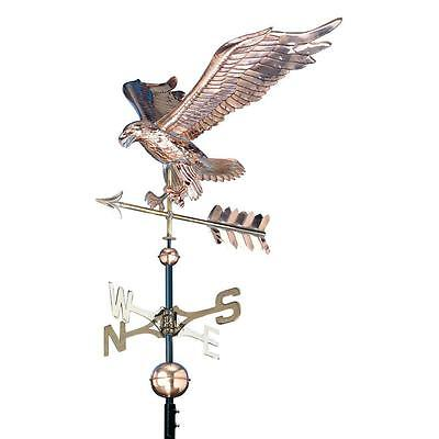 Polished 48 in. Eagle Copper Fully Functional Adjustable Roof Mount Weathervane