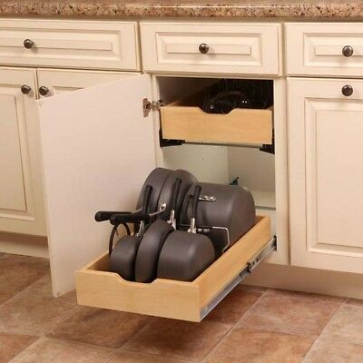 Vertical Kitchen Storage Pot Pan Lid Inside Cabinet Organizer Steel Divider  Rack