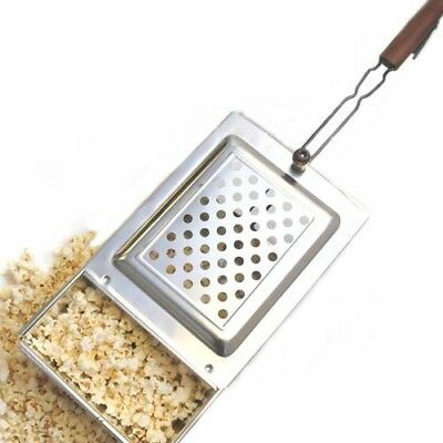 Stainless Steel Look Rectangle Popcorn Popper Set Non-Electric Design Cookware