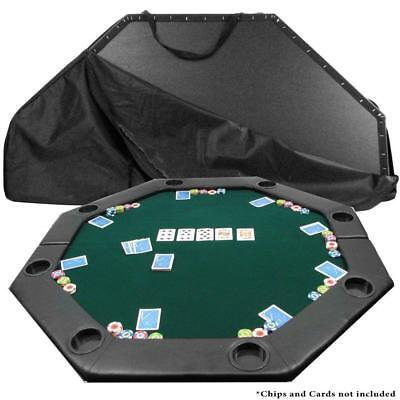 Green Octagon 52-in x 52-in Padded Poker Multi-Game Table Top with Carrying Case