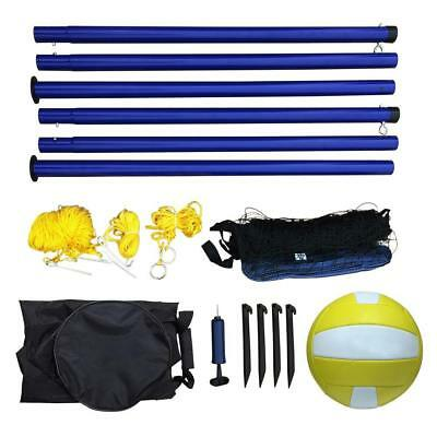 Portable 38-in Volleyball Equipment Set with Black Carrying Bag Included