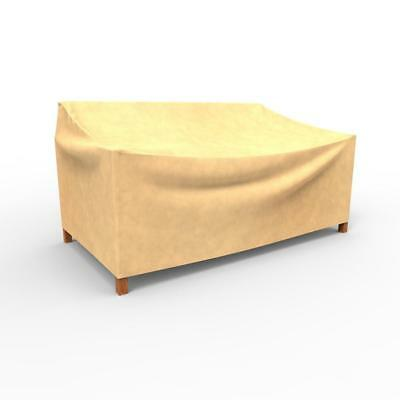 Medium Waterproof Beige 37-in Polypropylene All-Seasons Patio Loveseat Covers