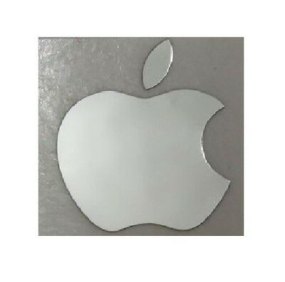 Silver Apple Sticker Logo Decal For iPhone & Mac Mobile Metallic 38mm x 28mm