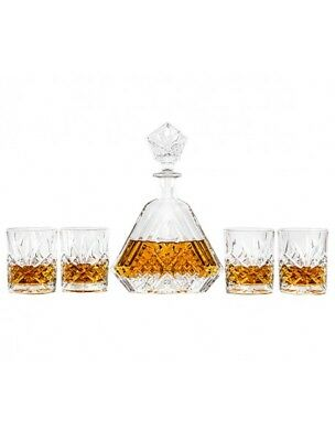 Whisky Decanter and Tumbler Gift Set 5 Pieces