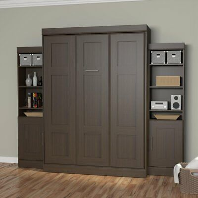 Bestar Edge Murphy Wall Bed with 1-Door and 3-Shelf Attached Storage Unit
