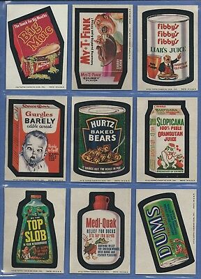 WACKY PACKAGES SERIES 7 COMPLETE SET 33 of 33 NMMT