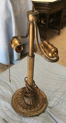 Bradley Hubbard Double Socket Table Lamp c1900s-1920s: For Refubishment or Parts