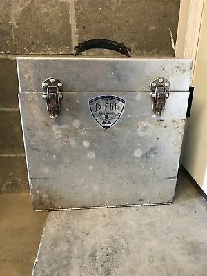 Vintage D-Flite Kennel Products Tack Box Horse Show Dog Grooming Ohio Leather