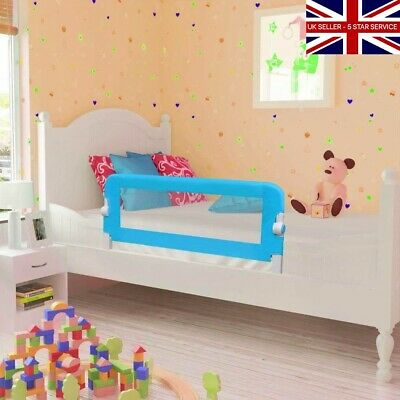 Toddler Child SAFETY Protection Cot / Bed Rail Foldable 102 X 42 Cm Blue NEW