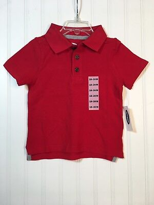 Old Navy Toddler Boys Red Polo Shirt, Multiple Sizes Available, NWT