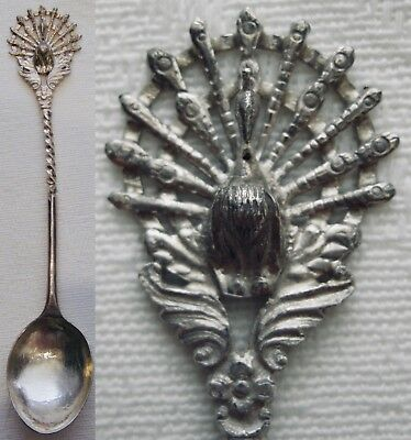 Peacock Or Lyrebird Figural Vintage Collector  Souvenir Spoon  (25)