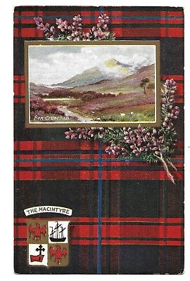 """scottish Clans"" Series Vii ""the Macintyre"" #9559 Raphael Tuck's Postcard C.1907"