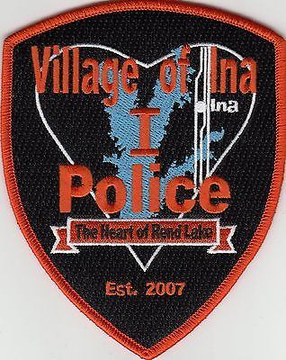 """Ina Illinois Il Police Shoulder Patch """"the Heart Of Rend Lake"""""""