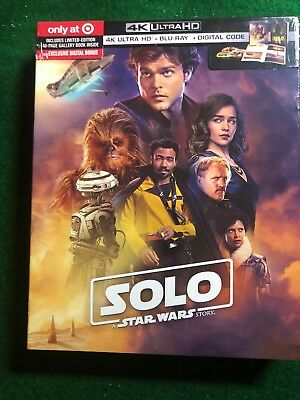 Solo A Star Wars Story 4K UHD Blu-ray Digital Storybook  Target Exclusive