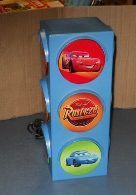 Disney Pixar Cars Stop Light Traffic Night Light Mater Lightning Mcqueen 120 Vac
