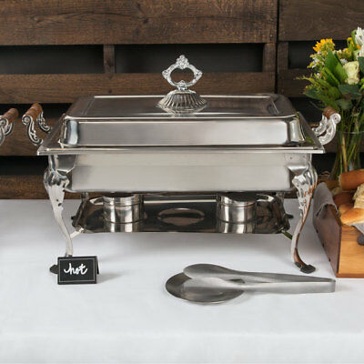 Choice Classic Rectangle 8 Qt. Stainless Steel Full Size Chafing Dish