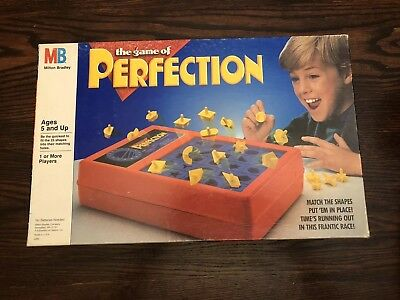 Perfection 1989 Milton Bradley Perfection Board Game Complete with box