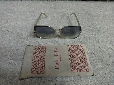 49c11e1fdd47 Vintage Paola Belle 641 Oversize Sunglasses Green And Clear Made In France