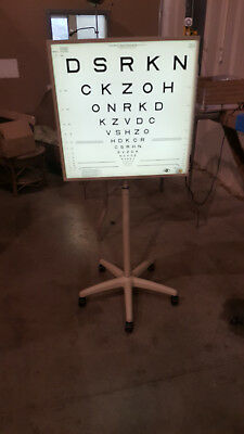 LIGHTHOUSE  DISTANCE VISUAL ACULITY TEST ON ROLLING STAND  Vision Test Exam