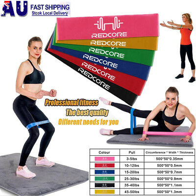 6pcs Resistance Loop Bands Exercise Mini Band Crossfit Strength Fitness Training