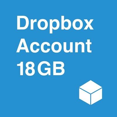 New Dropbox Account With 18GB Lifetime Storage