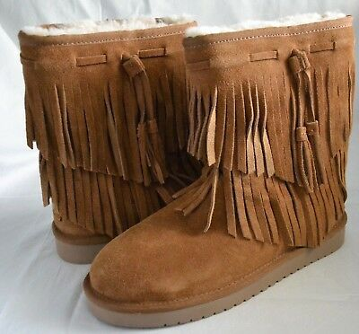 1c374f0dad4 KOOLABURRA BY UGG Women's 1015897 Ankle Cable Fringe Winter Boots Size 7 New