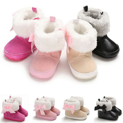 Winter Toddler Baby Boy Girl Warm Snow Boots Infant Soft Sole Crib Cotton Shoes