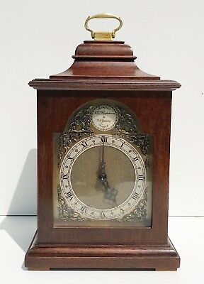 A Walnut Bracket Clock Very Good Quality British Movement By Rotherhams