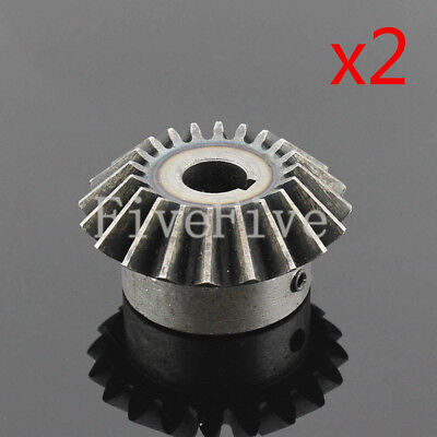 2pcs 3M20T Metal Umbrella Tooth Bevel Gear Helical Motor Gear 20T 15-28mm Bore