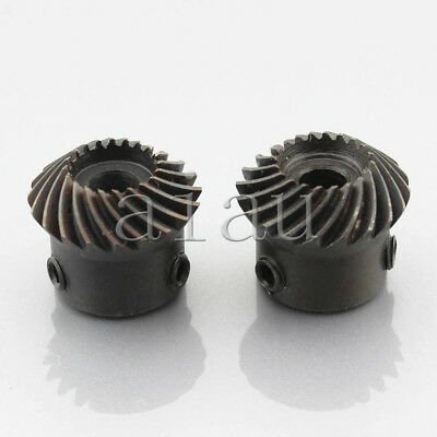 2pcs 1.5M20T Metal Umbrella Spiral Bevel Gear Helical Motor Gear 20 Tooth