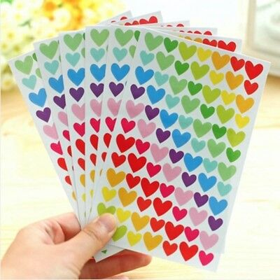 6 Sheets Star Heart Circle Shape Stickers Bookmark Scrapbook Sticky Notes New
