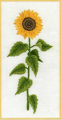 Sunflower Study- a crewel embroidery kit