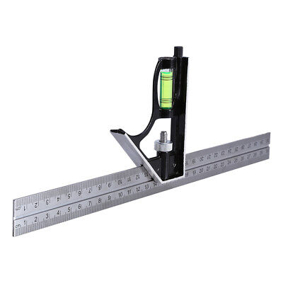 """12"""" 300mm Adjustable Engineering Combination Square Set Right Angle Ruler AU 1PC"""