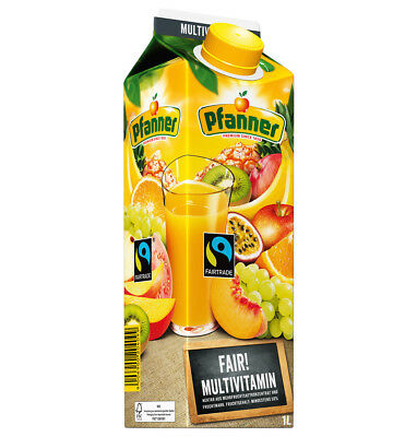 Pfanner Fairtrade Multivitamin Nektar 50% 8 x 1 Liter = 8 Liter