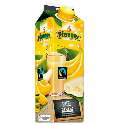 Pfanner Fairtrade Fairtrade Bananen Nektar 25% 8 x 1 Liter = 8 Liter