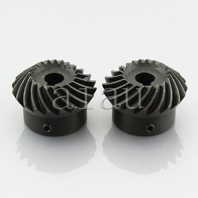 2pcs 2M20T Metal Umbrella Spiral Bevel Gear Helical Motor Gear 20 Tooth