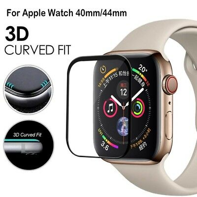 Apple Watch Series 4 3D Full Edge 9H Tempered Glass Screen Protector 40mm/44mm