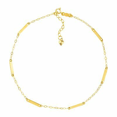 Eternity Gold Bar & Chain Anklet in 14K Gold