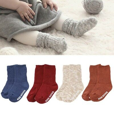 Fashion Winter Unisex Baby Kids Wool Socks Warm Thick  Non-slip Floor Socks S M