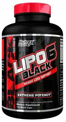 Nutrex LIPO 6 BLACK 120 Caps Extreme Weight Loss Support Fat Burner | FREE P&P ^