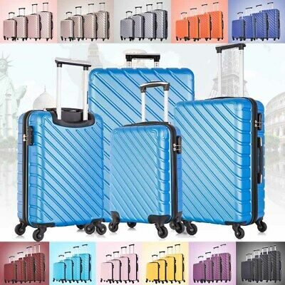 3/4 pcs Hardcase Luggage Set Travel Bag ABS Trolley Spinner Suitcase w/Lock