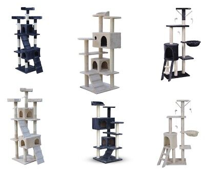 Multi Level Cat Tree Scratching Post Scratcher Pole Gym Toy House Furniture