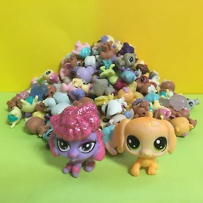 10pcs Littlest Pet Shop LPS Mini Baby Toy Send Random+ Orange & Red Dog Figure