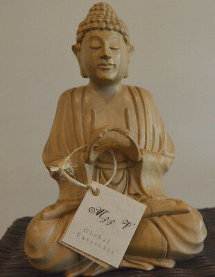 Buddha 21cm Hand carved Crocodile wood sculpture statue-FURTHER REDUCED