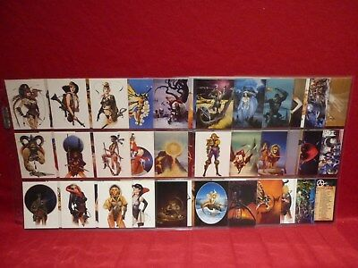 Chris Achilleos Series 2 Trading Cards 1994 Set Of 90 In Sleeves Vgc Fantasy Art